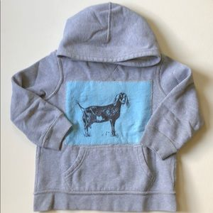 Children's Place | Gray Goat Appliqué Hoodie | 3T